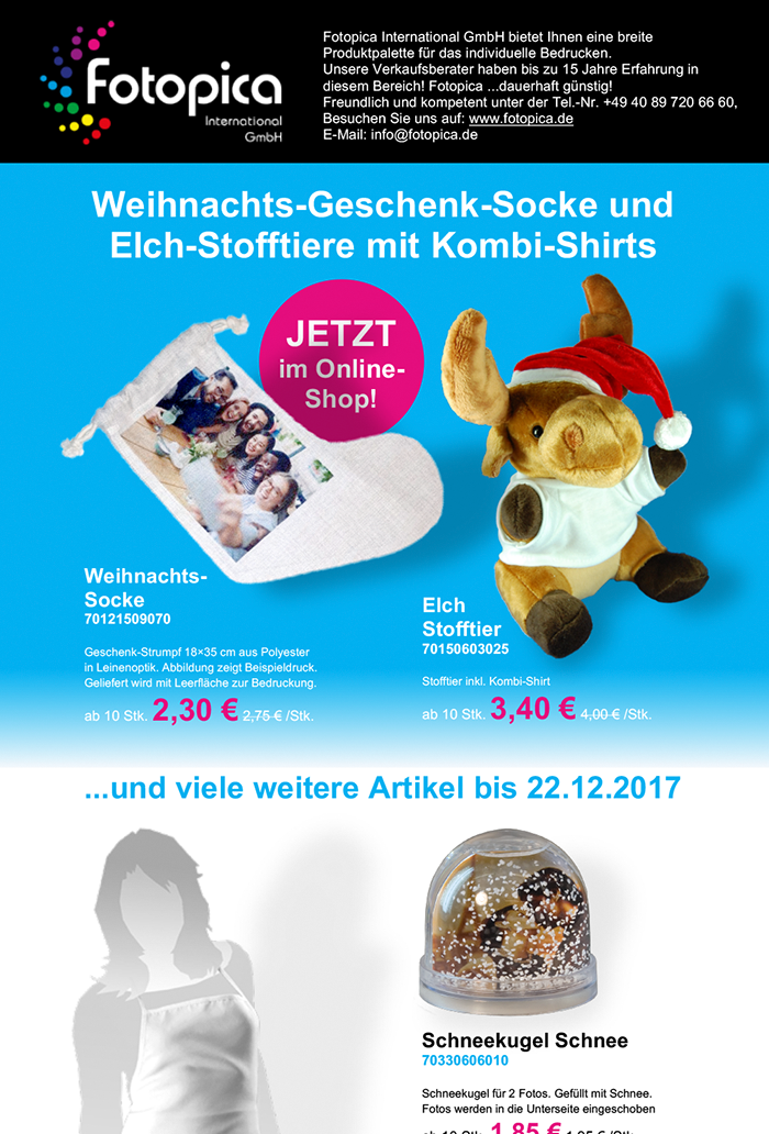 Fotopica Promotion Weihnachts-Socke