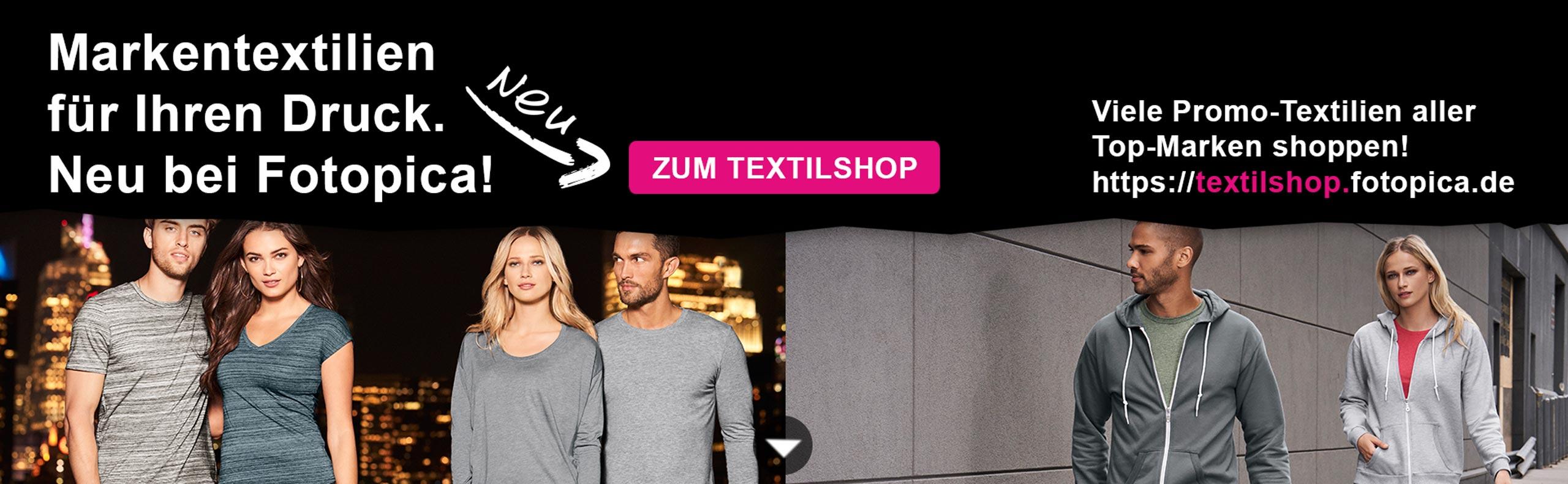 Neu bei Fotopica: Der Spezial-Textilshop